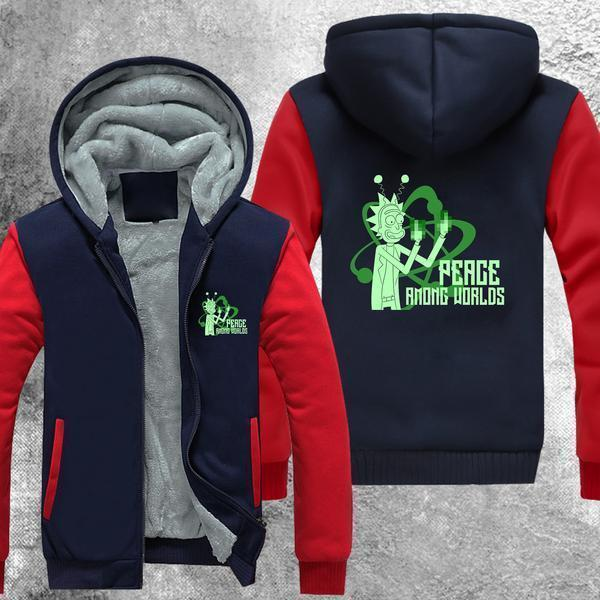 Peace Among Worlds Fleece Jacket Red / S