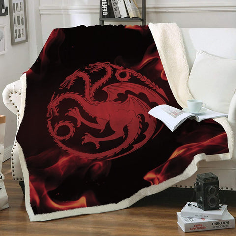 GOT House Targaryen Throw Blanket - Fandomaniax-Store