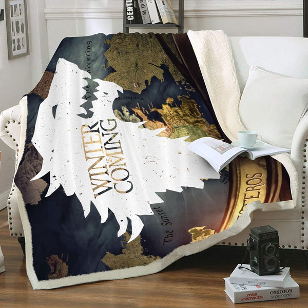GOT Warden of The North Throw Blanket - Fandomaniax-Store