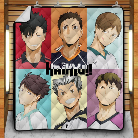 Haikyuu Captains Quilt Blanket - Fandomaniax-Store