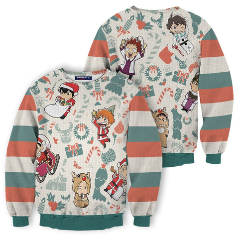Haikyuu Christmas Unisex Wool Sweater - Fandomaniax-Store