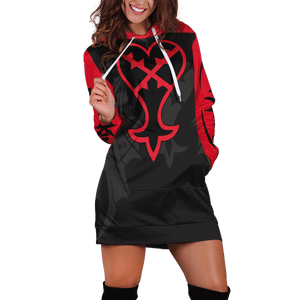 Heartless Hoodie Dress - Fandomaniax-Store