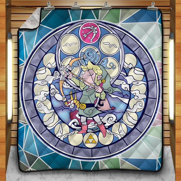 Hero of Hyrule V1 Quilt Blanket - Fandomaniax-Store