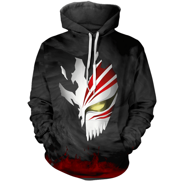 Hollow Mask Unisex Pullover Hoodie - Fandomaniax-Store