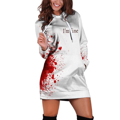 I'm Fine Hoodie Dress - Fandomaniax-Store