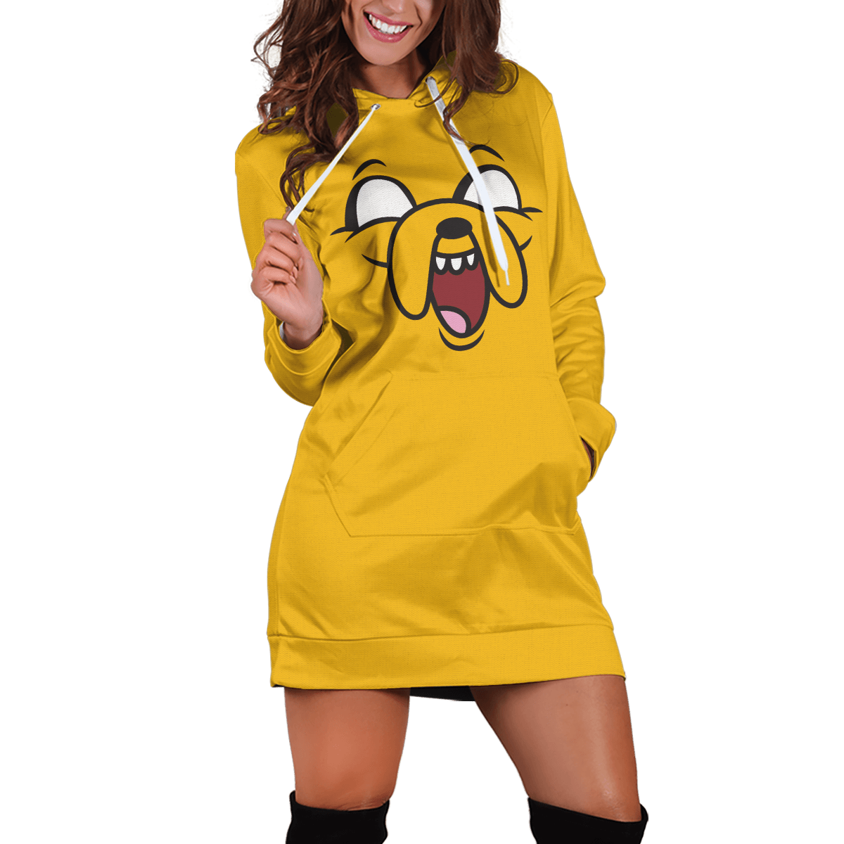 Jake Adventure Time v3 Hoodie Dress - Fandomaniax-Store