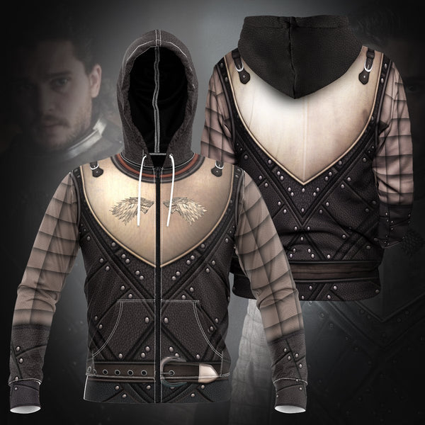 Jon Snow Unisex Zipped Hoodie - Fandomaniax-Store
