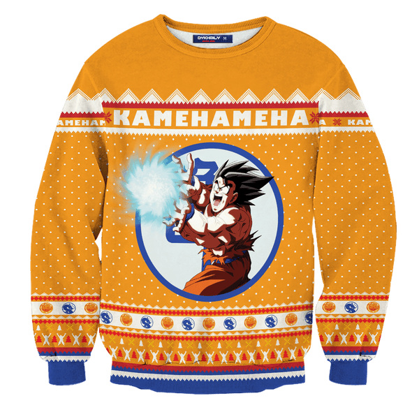 Kamehameha Christmas Unisex Wool Sweater - Fandomaniax-Store