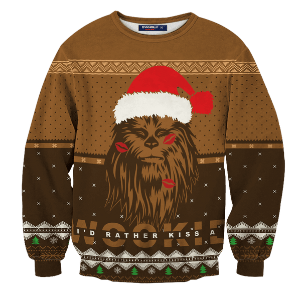 Kiss A Wookiee Unisex Wool Sweater - Fandomaniax-Store