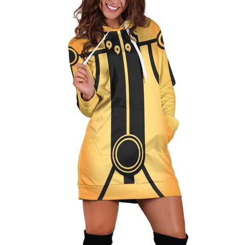 Kurama Mode Hoodie Dress - Fandomaniax-Store