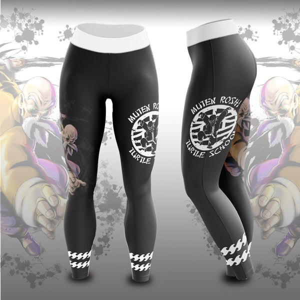 Master Roshi Turtle School Unisex Tights V2 - Fandomaniax-Store