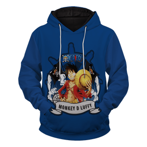 Monkey D Luffy Unisex Pullover Hoodie - Fandomaniax-Store