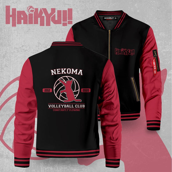 Nekoma Constantly Flowing Bomber Jacket - Fandomaniax-Store