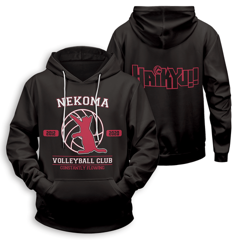 Nekoma Constantly Flowing Unisex Pullover Hoodie - Fandomaniax-Store