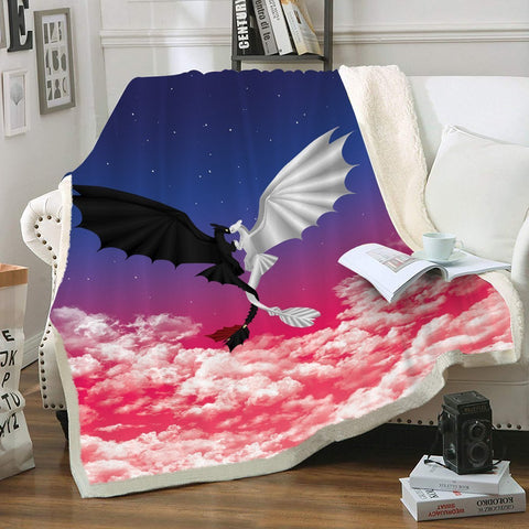 Night x Light Fury Throw Blanket - Fandomaniax-Store