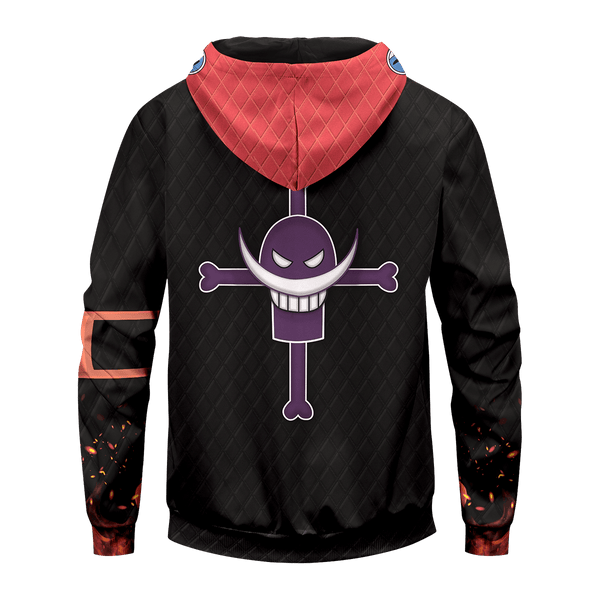One Piece Ace Unisex Zipped Hoodie - Fandomaniax-Store