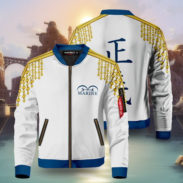 One Piece Marine Bomber Jacket - Fandomaniax-Store