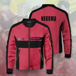 Personalized F1 Nekoma Bomber Jacket - Fandomaniax-Store