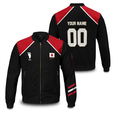 Personalized Haikyuu National Team Libero Bomber Jacket - Fandomaniax-Store