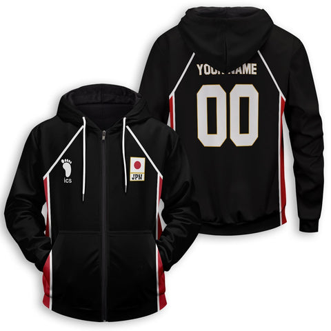 Personalized Haikyuu National Team Libero Unisex Zipped Hoodie - Fandomaniax-Store