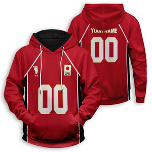 Personalized Haikyuu National Team Unisex Pullover Hoodie - Fandomaniax-Store