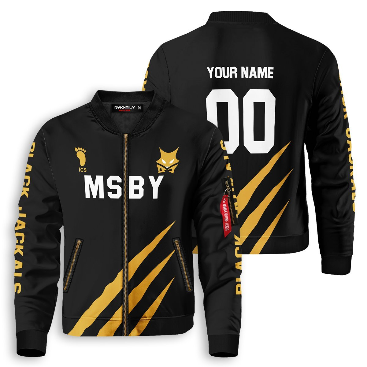 Personalized MSBY Black Jackals Bomber Jacket - Fandomaniax-Store