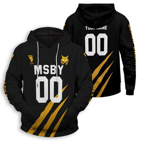 Personalized MSBY Black Jackals Unisex Pullover Hoodie - Fandomaniax-Store