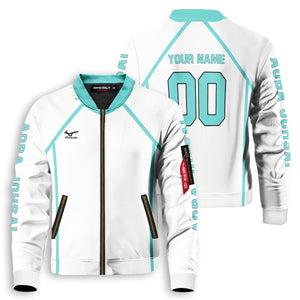 Personalized Team Aoba Johsai Bomber Jacket - Fandomaniax-Store