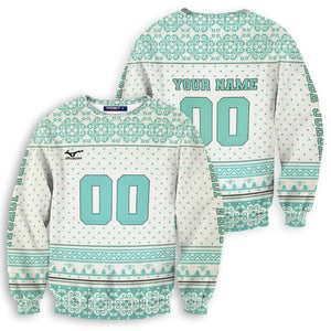 Personalized Team Aoba Johsai Christmas Unisex Wool Sweater - Fandomaniax-Store