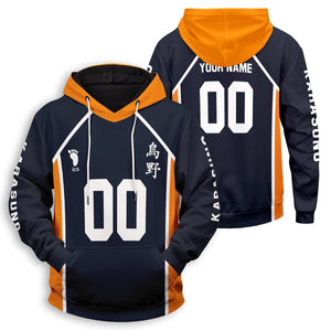 Personalized Team Karasuno Unisex Pullover Hoodie - Fandomaniax-Store