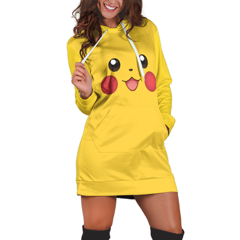 Pika Hoodie Dress - Fandomaniax-Store