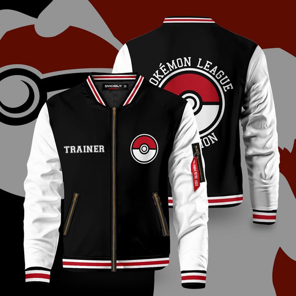 Pokemon League Bomber Jacket - Fandomaniax-Store