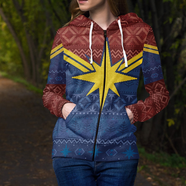 Protector of Christmas Skies Unisex Zipped Hoodie - Fandomaniax-Store