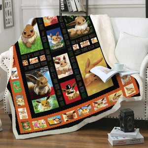 Quilted Eevee Throw Blanket - Fandomaniax-Store