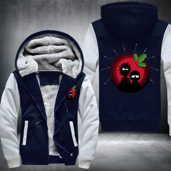 Rick & Morty Christmas Design 03 Fleece Jacket - Fandomaniax-Store