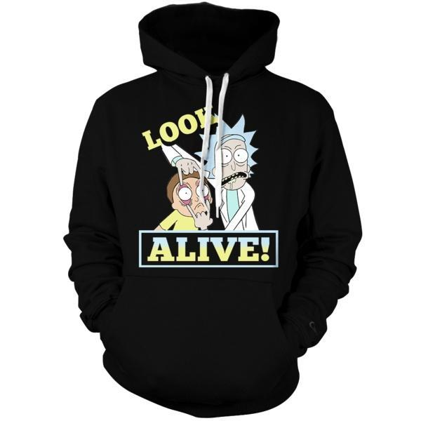 Rick & Morty Peace II Unisex Pullover Hoodie - Fandomaniax-Store