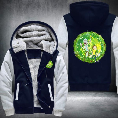 Rick & Morty Wormhole Fleece Jacket - Fandomaniax-Store