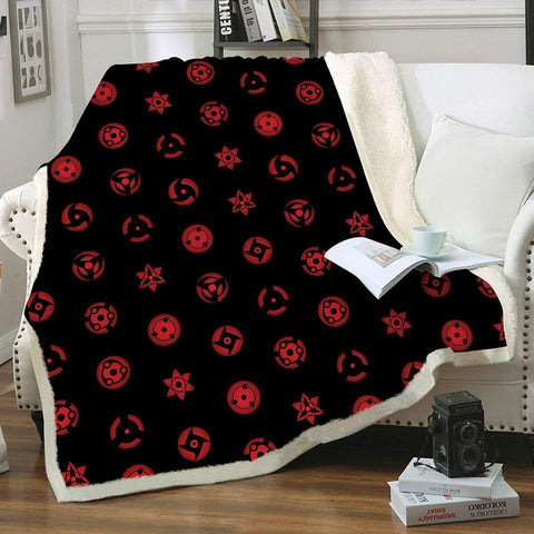 Sharingan Throw Blanket - Fandomaniax-Store