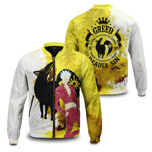 Sin of Greed Bomber Jacket - Fandomaniax-Store