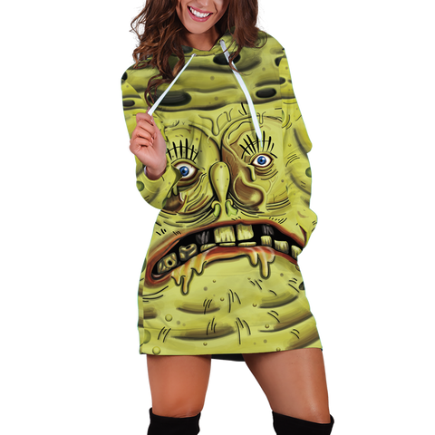 Snotbob Squarepants Hoodie Dress - Fandomaniax-Store