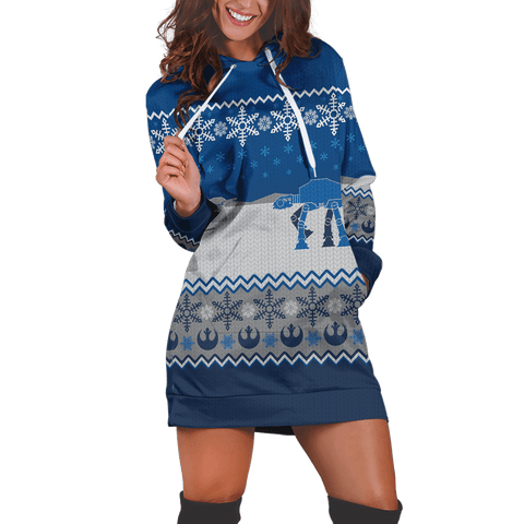 Star Wars Christmas Hoodie Dress - Fandomaniax-Store