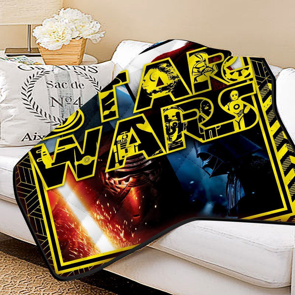 Star Wars Galaxy Quilt Blanket - Fandomaniax-Store