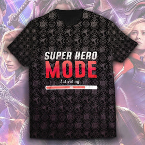 Super Hero Mode Unisex T-Shirt - Fandomaniax-Store