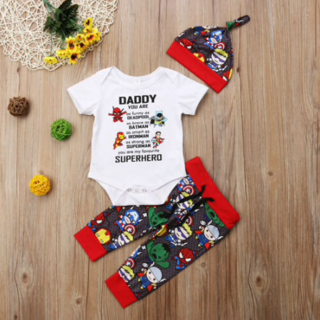 Superhero Baby Boys Romper Outfit - Fandomaniax-Store