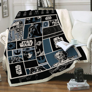 SW Characters Throw Blanket - Fandomaniax-Store