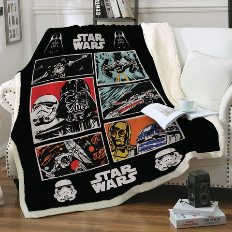 SW Vintage Throw Blanket - Fandomaniax-Store