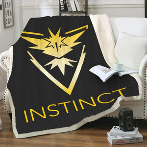 Team Instinct Throw Blanket - Fandomaniax-Store