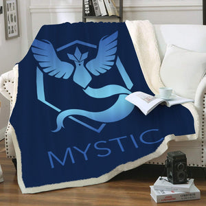 Team Mystic Throw Blanket - Fandomaniax-Store