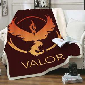 Team Valor Throw Blanket - Fandomaniax-Store