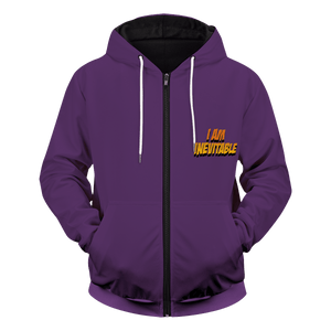 Thanos Farewell Unisex Zipped Hoodie - Fandomaniax-Store
